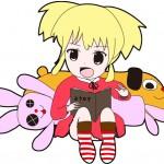 デフォルメイラスト!読書の娘を描いてみました。ピクシブもぜひ!