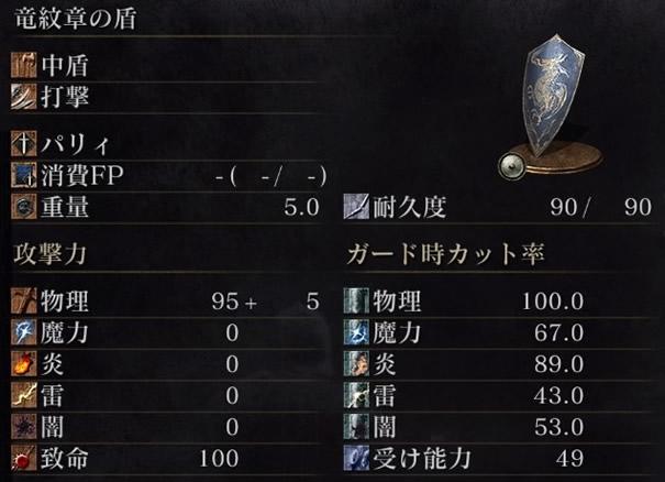 竜紋章の盾